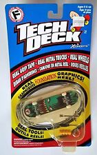 RARE Vintage Tech Deck FOUNDATION SKATEBOARD Fingerboard REAL GRAPHICS and Tools