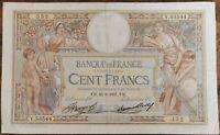 Billet 100 francs LUC OLIVIER MERSON 25 = 3 = 1937 FRANCE Y.53544