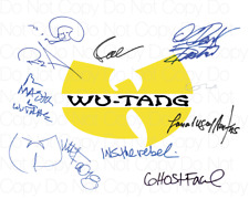 Wu Tang Clan signed photo 8X10 inch picture poster autograph RP