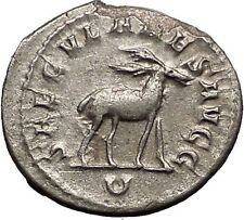 PHILIP I - 1000 Years of Rome Colosseum Games Stag Silver Roman Coin i57494