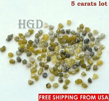 100% NATURAL Loose Rough Diamonds RARE Fancy Yellow uncut raw real 1.80mm 5crts