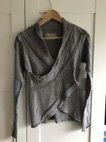 All Saints Spitalfields Ladies Grey Tapio Wrap Cardigan Size 8