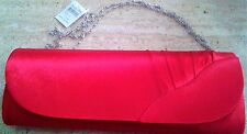 BIJOUX TERNER Ladies/Girls Cute Red Evening Clutch Purse with Detachable Chain