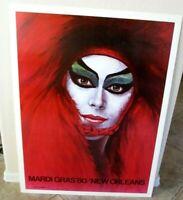Vtg 1980 Larry Harris Mardi Gras New Orleans Poster, Advertising
