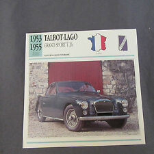 662C Edito Estación de Enchufe Folleto Talbot-Lago GS T26