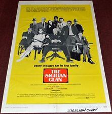 THE SICILIAN CLAN 1970 ORIGINAL 27X41 MOVIE POSTER! JEAN GABIN CRIME ACTION!