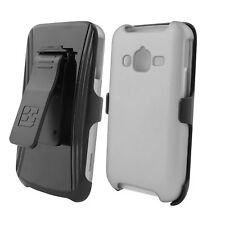 For Samsung Galaxy Rugby Pro i547 Protective Snap On Slim Belt CLIP Case WHITE