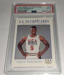 1992 Impel Olympicards #16 David Robinson PSA 9 Mint Dream Team USA Pop 22
