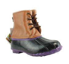 Western Chief Kids Womens  black/brown/purple Rainboots Boots Size 6 (208617)