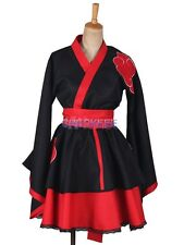Naruto Akatsuki Lolita Dress Cosplay Costume Halloween japanese anime