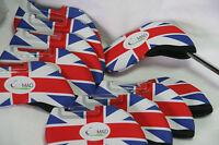 10 Golf Mad Neoperene Golf Iron Head Covers Union Jack Flag Neoprene Headcovers
