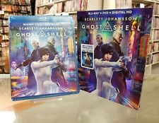 Ghost In The Shell Blu Ray + Dvd + Digital Hd ) NEW, AUTHENTIC, FAST SHIP 2017