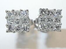 Unisex Echtschmuck im Ohrstecker-Stil mit Diamant