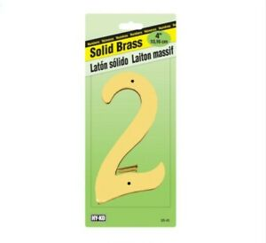 Hy-Ko 4 in. Gold Brass Nail-On Number
