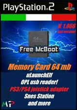 Free McBoot Memory Card PS2 64 Mb playstation 2 FMCB 1.966 freemcboot ITA