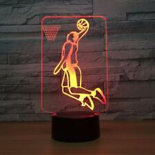 Sport 3D basketball playing illusion led touch table night light bedroom lamp