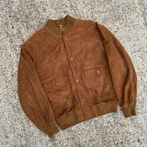 vintage suede bomber jacket Size L