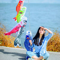 40-100cm Japanese Koinobori Carp Windsock Anime Fish Flag Windsock Koi Gift Bump
