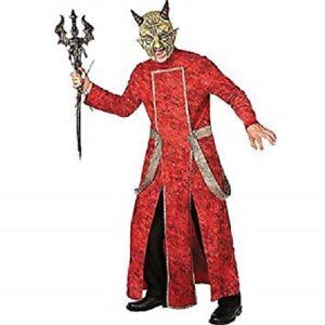 """Mens Red Devil Diablo Death Halloween Horror Fancy Dress Size M/L Upto 44"""" Inch"""