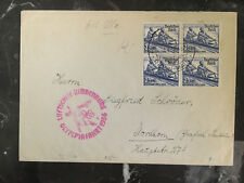 1936 Frankfurt Germany LZ 129 Hindenburg Zeppelin Olympics Cover to Nordhorn