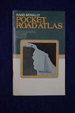 1977 Rand McNally POCKET Road Atlas US, CANADA, MEXICO Advertising Suede Cover