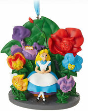 DISNEY ALICE IN WONDERLAND SKETCHBOOK 2018 ORNAMENT CHRISTMAS DECORATION, BNIB..