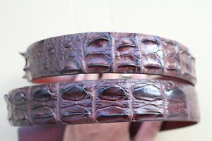 Brown Genuine Alligator ,Crocodile Hornback Leather Skin Men's Belt