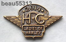 LADIES OF HARLEY DAVIDSON OWNERS GROUP HOG LOH 2014 VEST JACKET HAT PIN 14