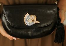 JUDITH LEIBER SWAROVSKI CRYSTAL KARUNG BLUE MARLIN FISH MINAUDIERE SHOULDER BAG