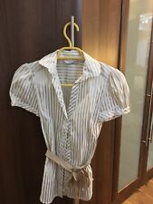 White/gold Stripped Blouse From Zara Size XS