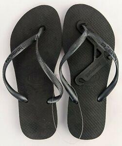 Havaianas Thongs Slim Black Size 35/36 NEW