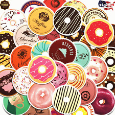 Stickers 35pcs Skateboard Baking Donuts Cake Foot Decoration Bread Crafts Decals