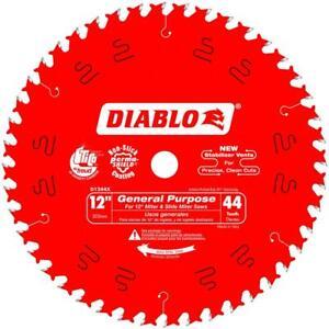 "Freud D1244X Diablo 12"" 44 Tooth ATB General Purpose Miter Saw Blade w/ 1"" Arbor"