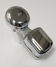 NEW OLD STYLE WALL MOUNTED VINTAGE CHROME SHOP DOOR BUTLER STRIKER BYRON BELL