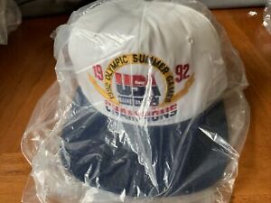 92 Olympic Summer Games USA Basketball Champ Dream Team Hat New W Tag Vintage