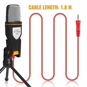 Kondensator Microphone Handy PC Mikrofon Kit Komplett Set für Studio Podcast