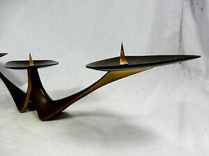 50´s Klaus Ulrich design candleholder / Kerzenhalter  Faber & Schumacher bronze