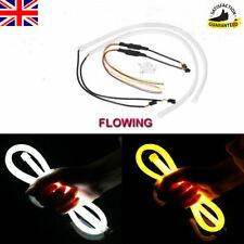2x 60CM Switchback TUBE Car LED Strip DRL Flowing Turn Signal Lights Amber&White