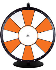30 Inch Orange and White Portable Dry Erase Spinning Prize Wheel
