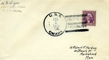 U.S.COVER U.S.S. OMAHA 1935 SPECIAL SERVICE NAVY MAIL CLERK BREMENTON, WA RARE
