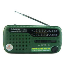 DEGEN DE13 Radio FM MW SW Crank Dynamo Solar Emergency Radio World Receiver