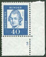 Bund 355 x FN 3 Formnummer postfrisch BRD Ecke 4 MNH