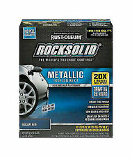 Rust-Oleum 299745 Rock-Solid Metallic Garage Floor Coating Kit, Brilliant Blue