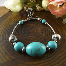 NEW Free shipping Jewelry Tibet silver jade turquoise bead DIY bracelet S272