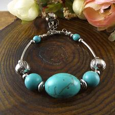 NEW Free shipping Jewelry Tibet silver jade turquoise bead DIY bracelet S272