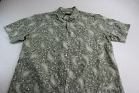 Tasso Elba 30 Silk 70 Linen Paisley Button Up Shirt Large L