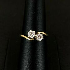 (Wi1) 18ct Gold Two Diamond 0.50ct Ring 3.8gms UK Size N - 2005878-1-A