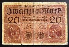 20 Zwanzig mark German 1918 banknote Free Shipping