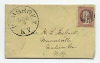 "1859 Pembroke NY large ""balloon"" CDS on #26 cover to Munnsville [y5431]"
