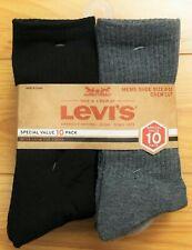 LEVIS CREW CUT SOCKS MEN'S SHOES SIZE 6-12 (10 PAIRS)